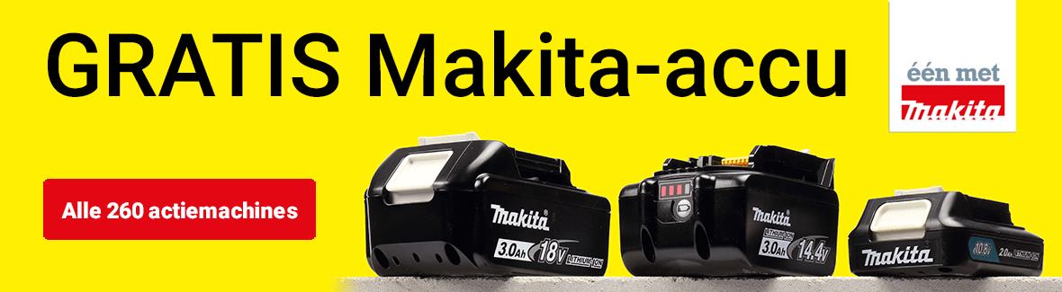 Gratis accu van Makita