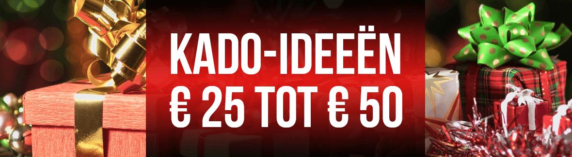 Decemberkado's van 25 tot 50 euro