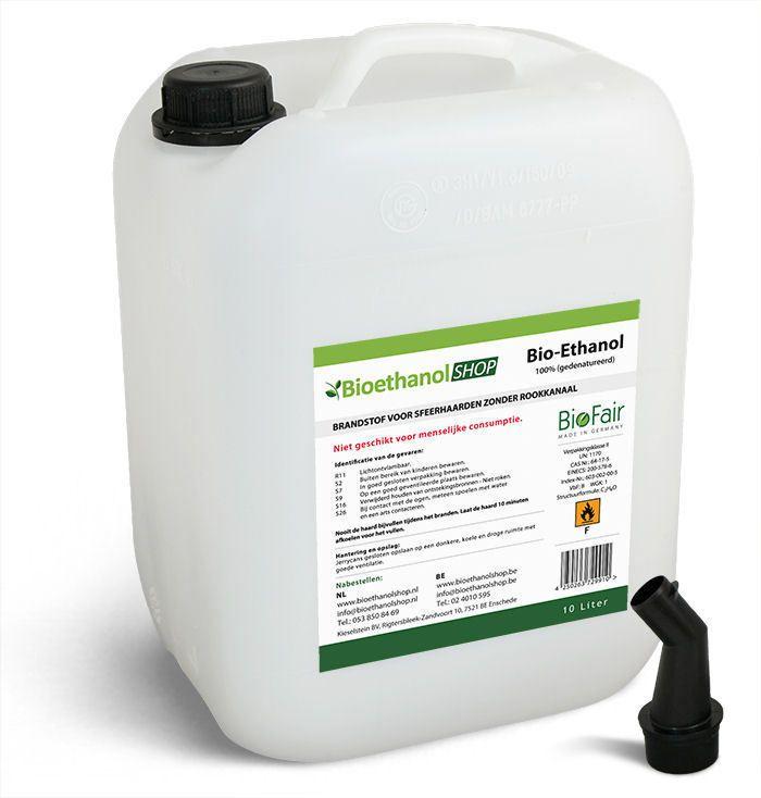 10 liter bio ethanol bioethanol 96 6 jerrycan voor 23 05. Black Bedroom Furniture Sets. Home Design Ideas