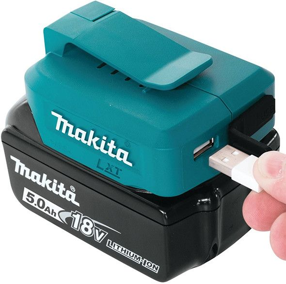 makita adp05 14 4v en 18v li ion accu usb adapter van makita voor 22 50 in accu overig accu. Black Bedroom Furniture Sets. Home Design Ideas