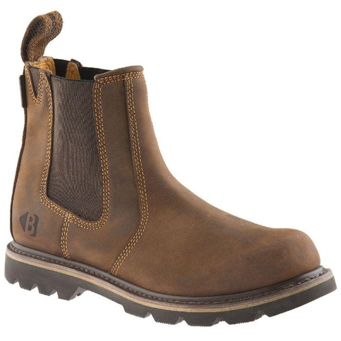 Buckler Boots Non safety instapper Dark Brown Crazy Horse Leder B1300