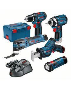 Bosch Blauw 12V Accu GSA + GSR + GOP + GDR + GLI + 3x 2.0Ah Accu in L-BOXX