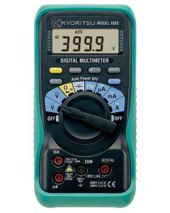 Kyoritsu Digitale Multimeter 0-600VAC/DC, 10A AC/DC Geleverd met Meetsnoeren 1009
