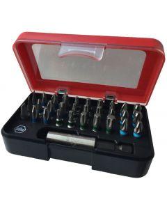Wiha Speed-E Set 3 E-schroevendraaier op accu en easyTorque-adapter slimbits als 25-delig in L-Boxx