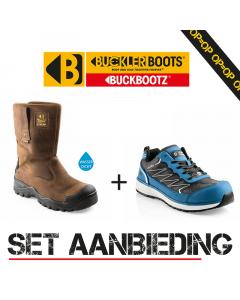 Buckler Boots BSH010BR Safety Werklaars + GUYZ Safety Sneaker