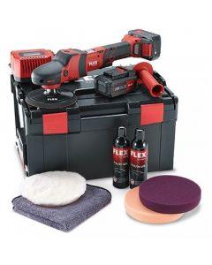 Flex PE 150 18.0-EC/5.0 P-Set 18V Polijstmachine + 2Accu's 5,0Ah + Lader in L-BOXX - 461229