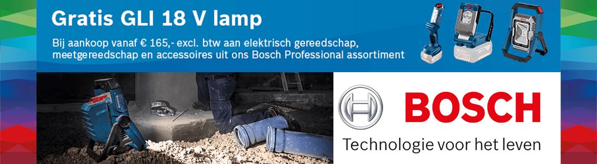 Bosch gratis 18V lamp-actie