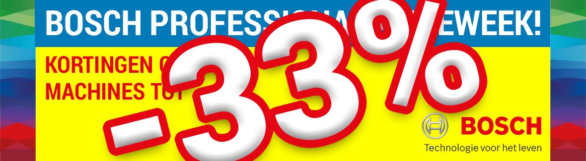 Bosch Actieweek tot 33% korting!