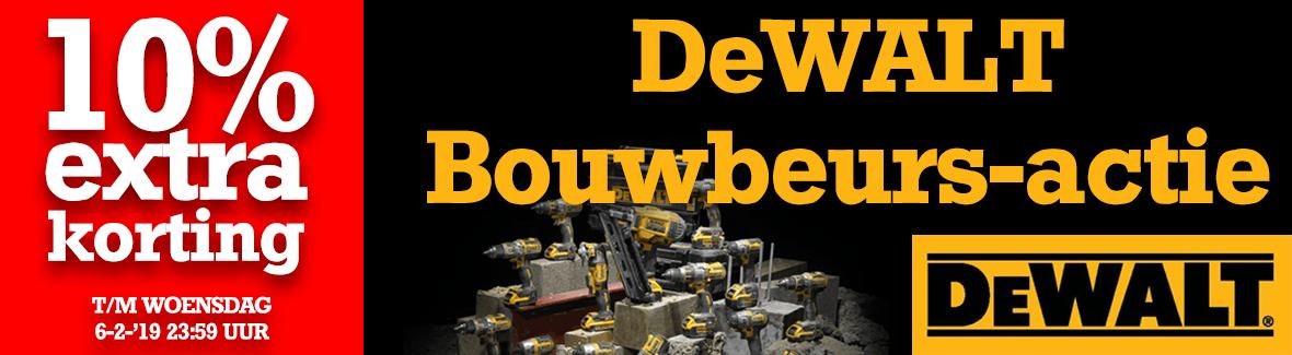 DeWALT BouwBeurs-dagactie 2019