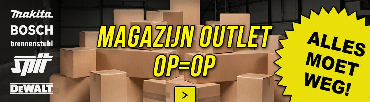 OUTLET Magazijnverkoop OP=OP
